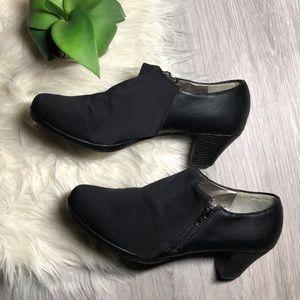 Madeline Stuart Black Booties with Heel